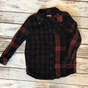 Boys Mossimo Flannel shirt size 4/5
